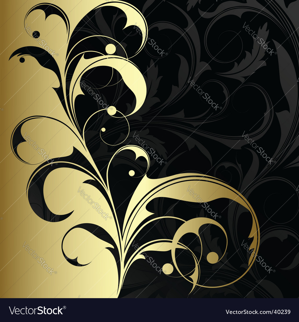 Gold plant vector | Price: 1 Credit (USD $1)