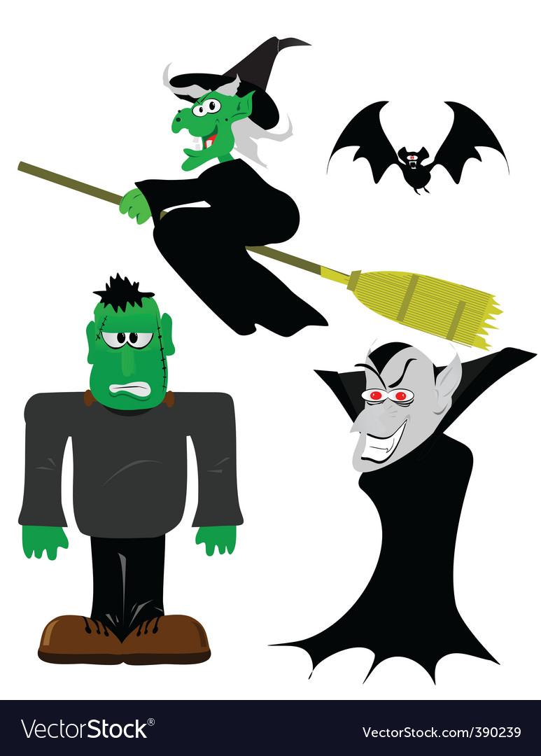 Halloween figures vector   Price: 1 Credit (USD $1)