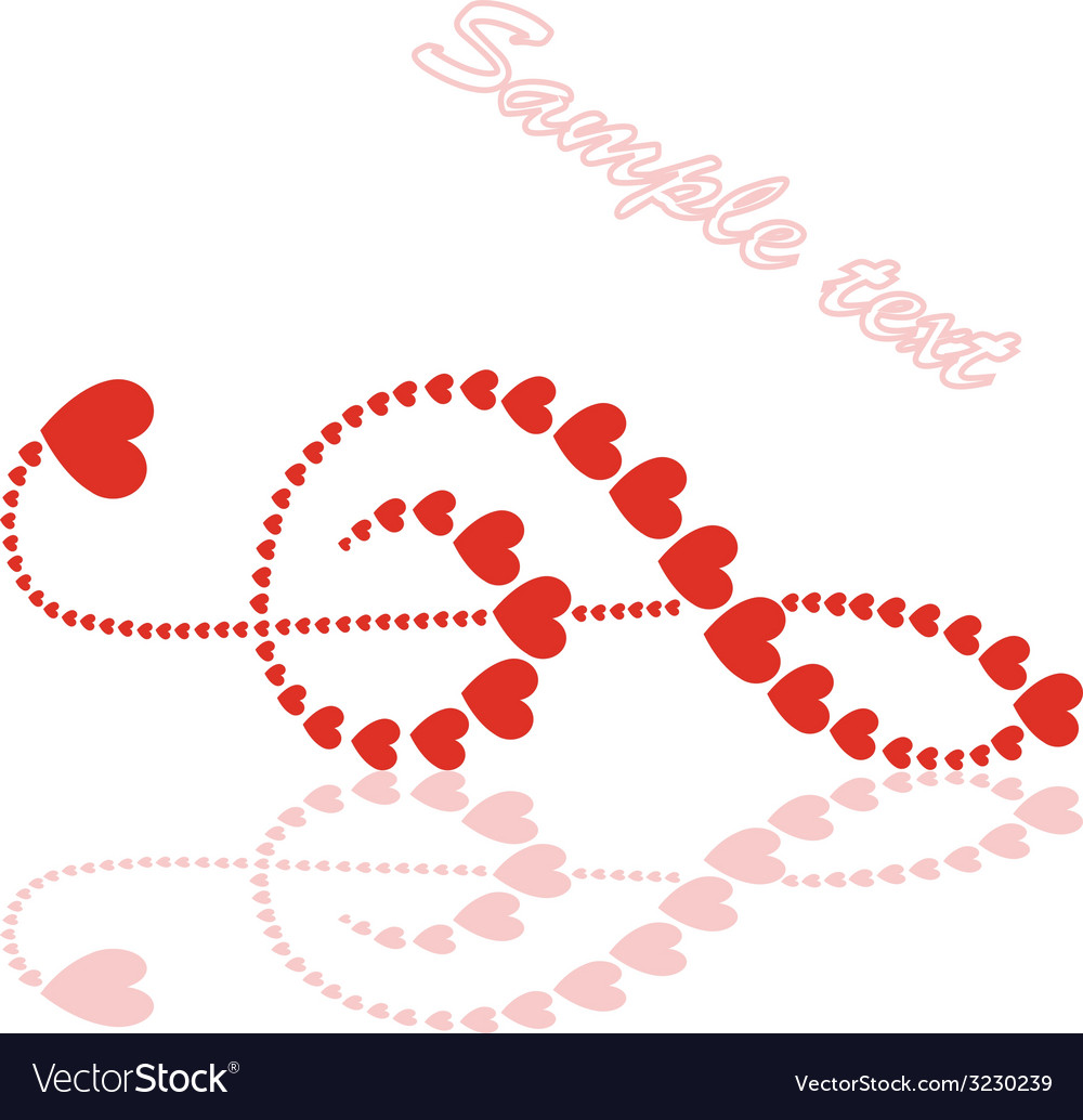 Hearts violin clef vector | Price: 1 Credit (USD $1)