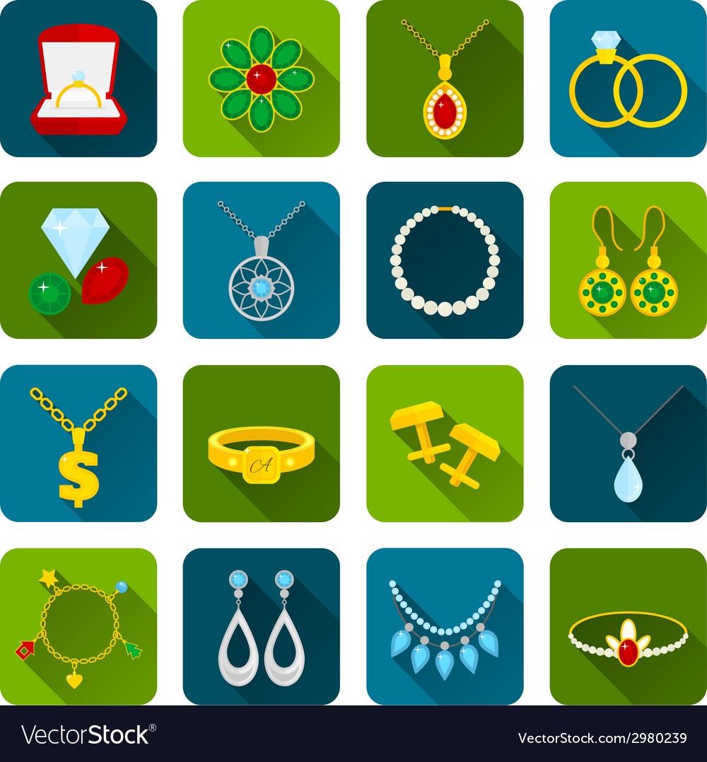 Jewelry icon set vector | Price: 1 Credit (USD $1)