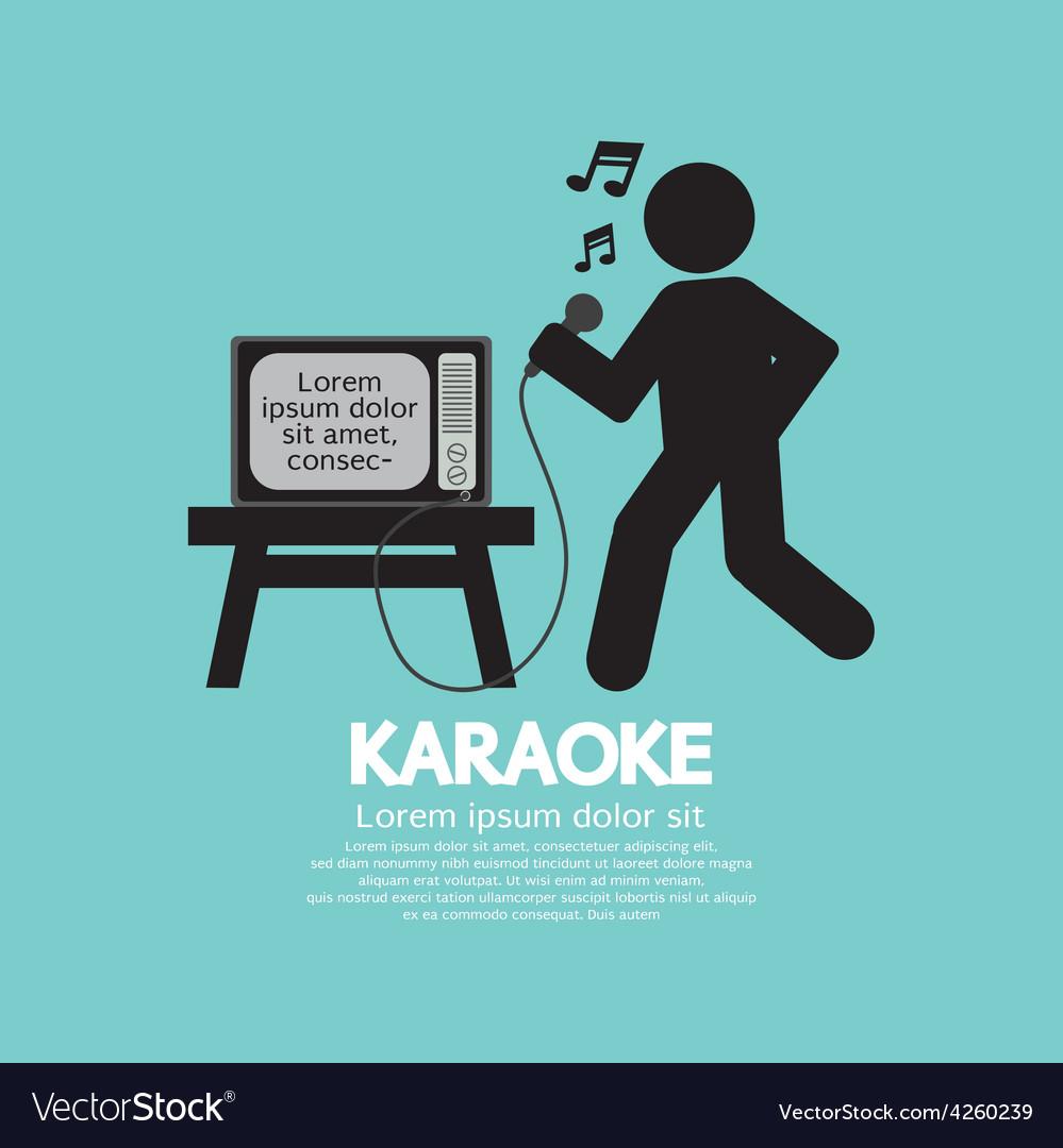 Karaoke singer black symbol vector | Price: 1 Credit (USD $1)