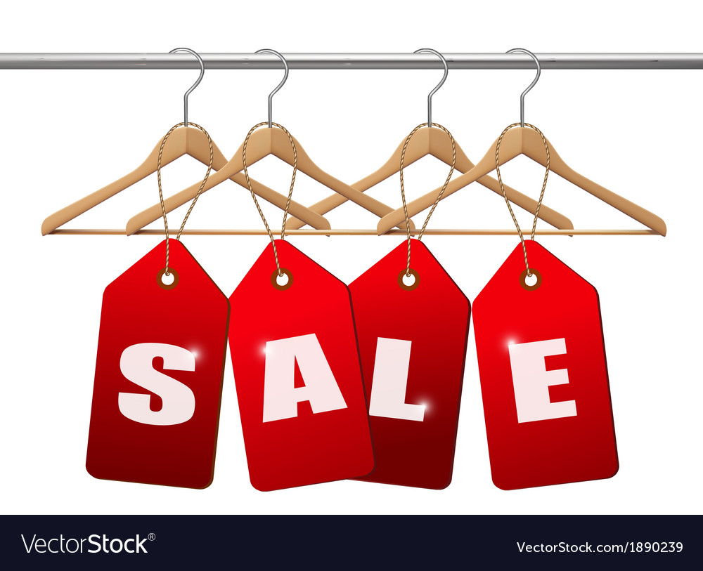 Sale tags concept of discount shopping vector   Price: 1 Credit (USD $1)