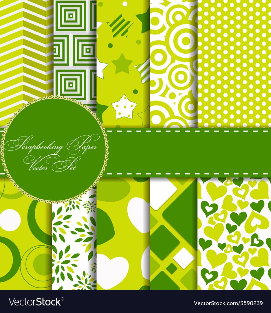 Set of beautiful paper for scrapbook vector | Price: 1 Credit (USD $1)
