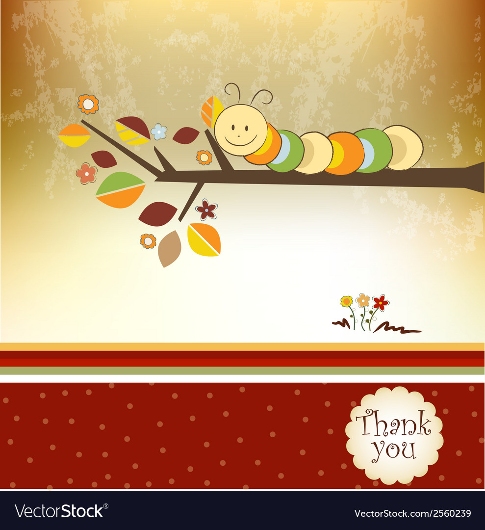 Thank you greeting card vector | Price: 1 Credit (USD $1)