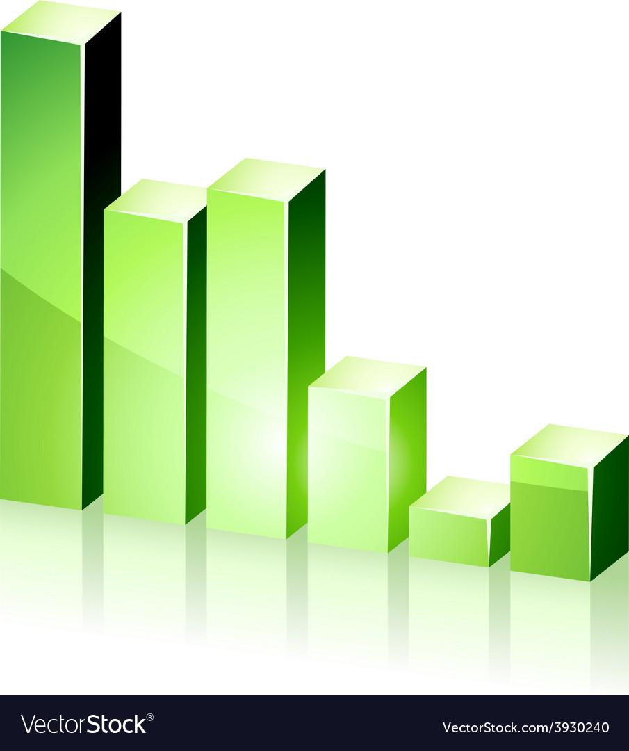 3d green diagram vector   Price: 1 Credit (USD $1)