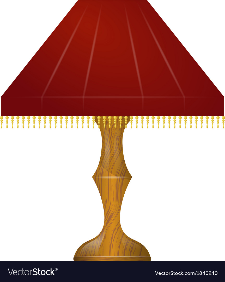 A red table lamp vector | Price: 1 Credit (USD $1)
