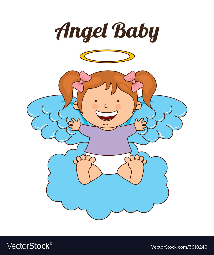 Angel baby vector | Price: 1 Credit (USD $1)
