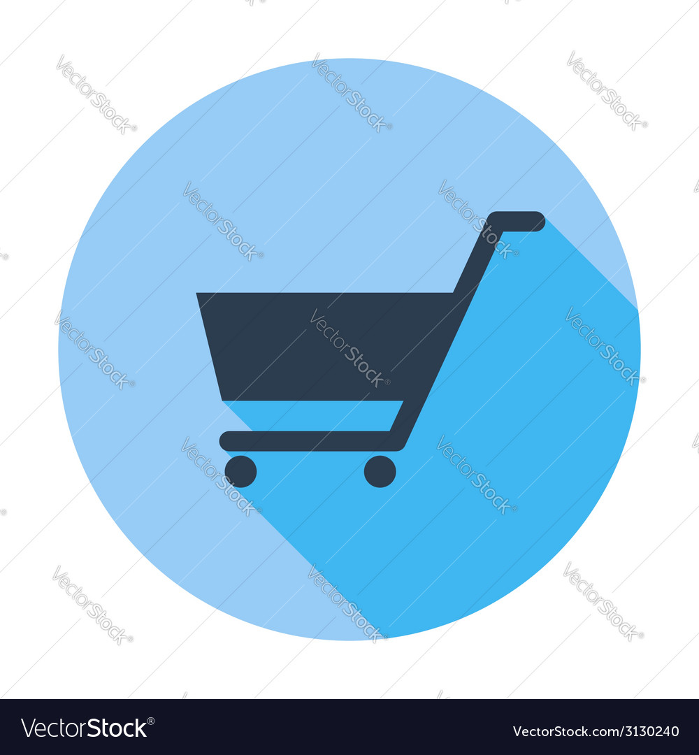 Cart flat single icon vector | Price: 1 Credit (USD $1)