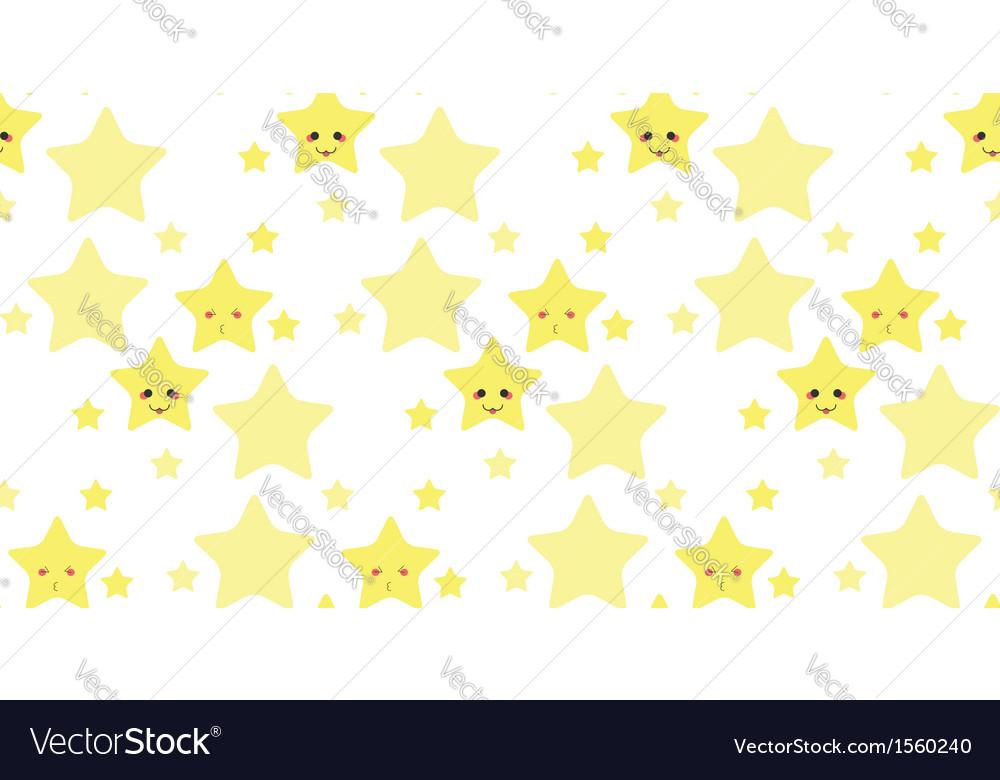 Funny stars pattern vector