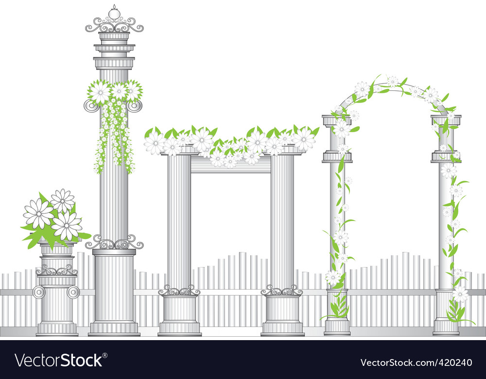 Garden arch vector | Price: 1 Credit (USD $1)