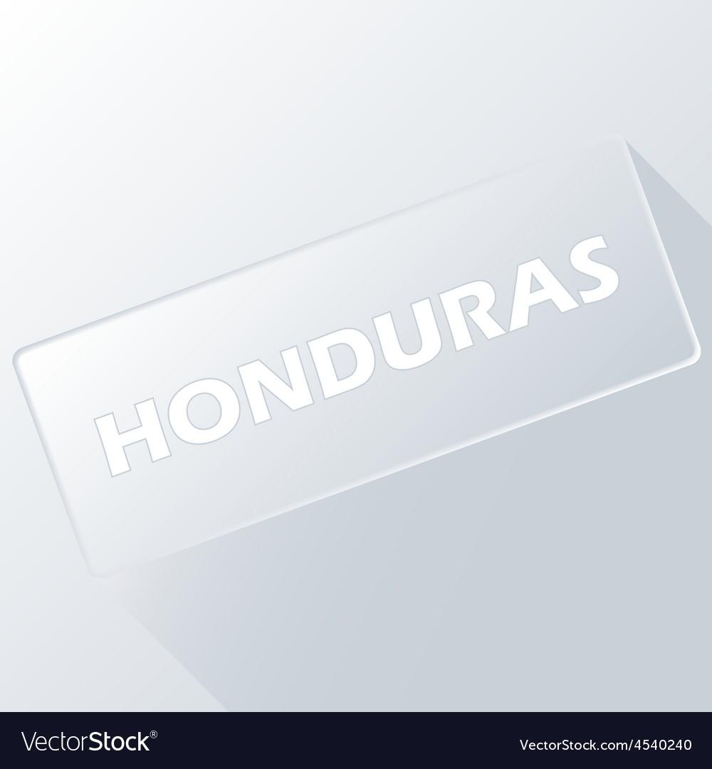 Honduras unique button vector | Price: 1 Credit (USD $1)