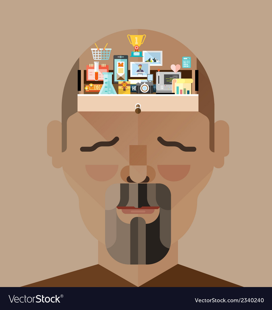 Human brain memory vector | Price: 3 Credit (USD $3)