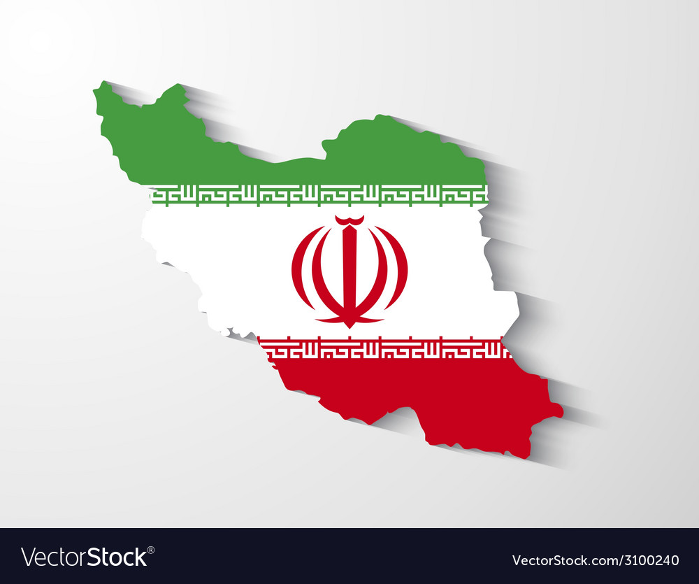 Iran map with shadow effect presentation vector | Price: 1 Credit (USD $1)