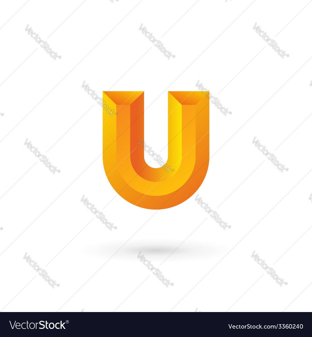 Letter u logo icon design template elements vector | Price: 1 Credit (USD $1)