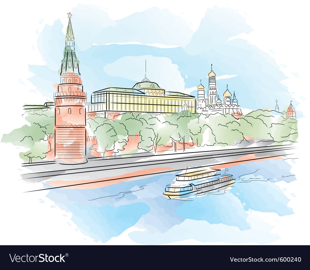 Moscow kremlin vector | Price: 3 Credit (USD $3)