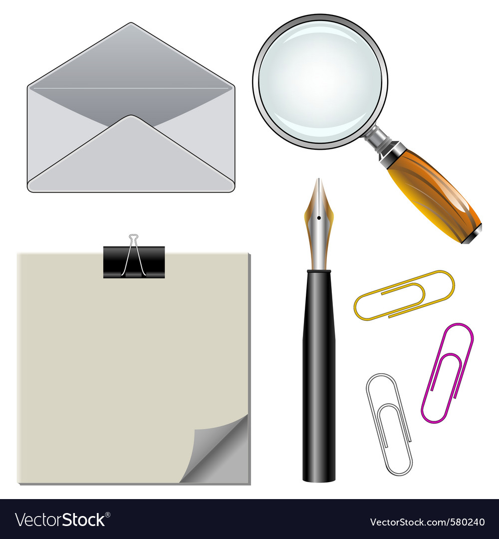 Office elements vector   Price: 1 Credit (USD $1)
