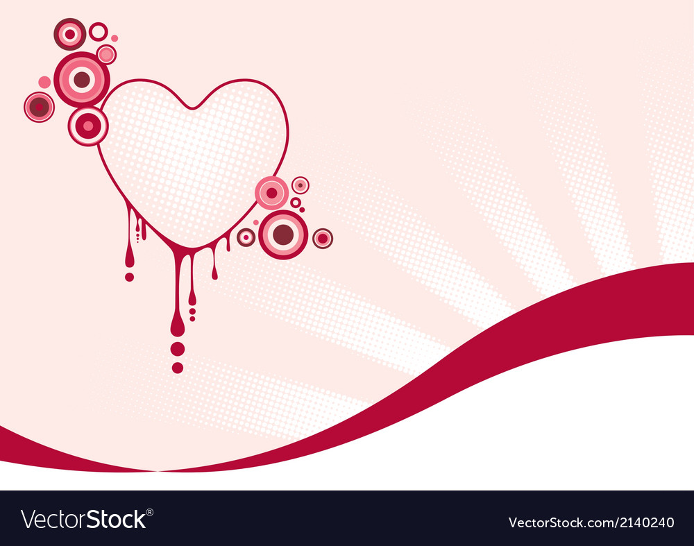 Pink graphic heart vector | Price: 1 Credit (USD $1)