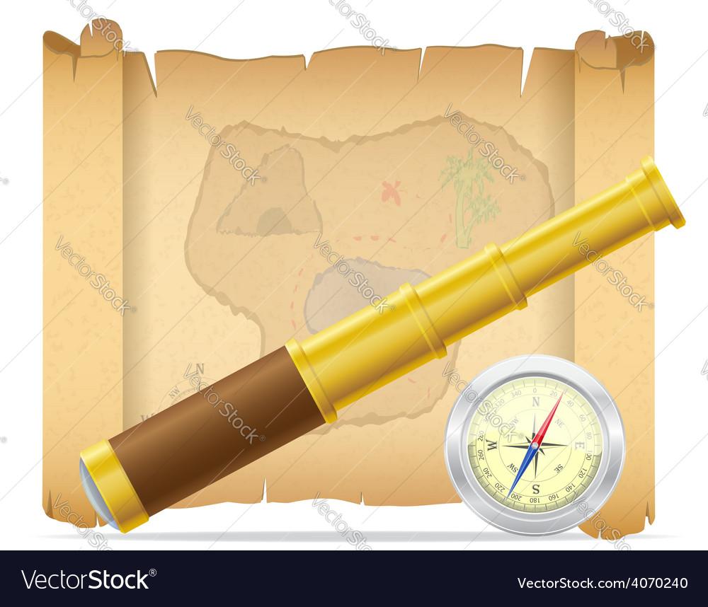 Pirate treasure map 02 vector | Price: 3 Credit (USD $3)