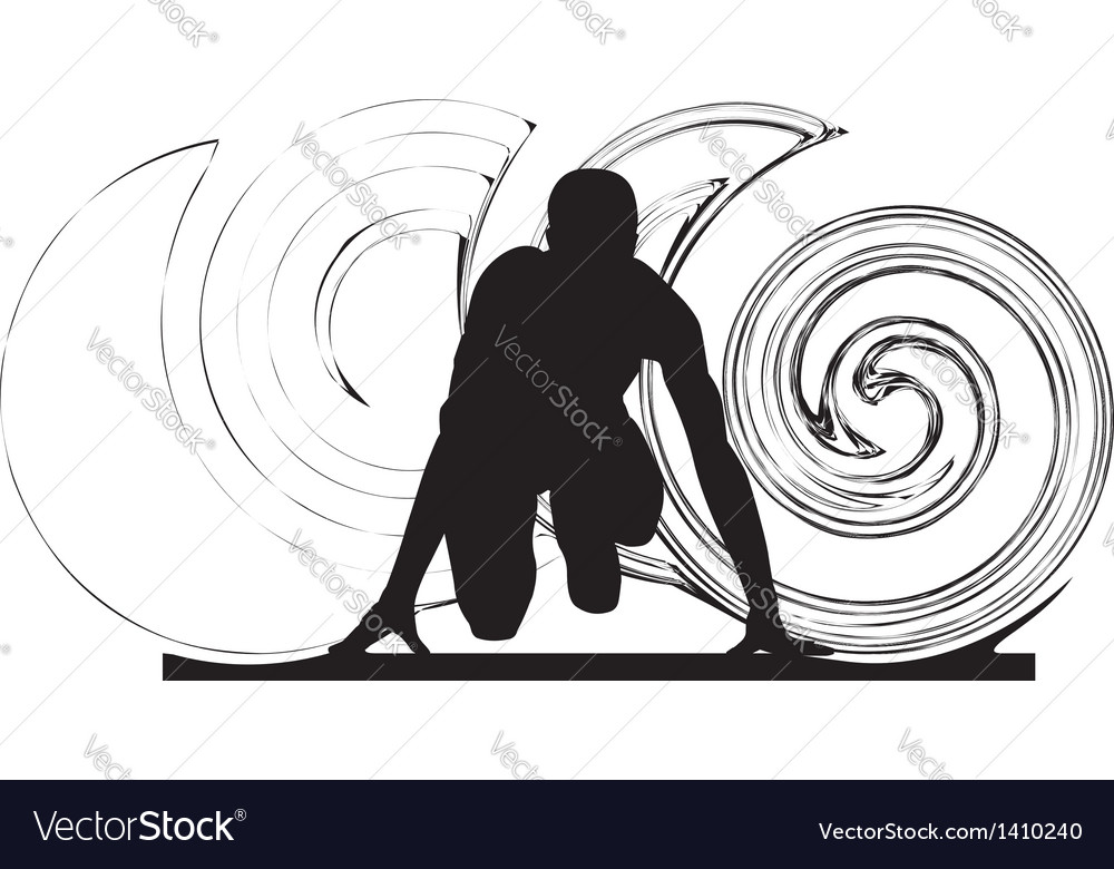 Runner in start position vector | Price: 1 Credit (USD $1)