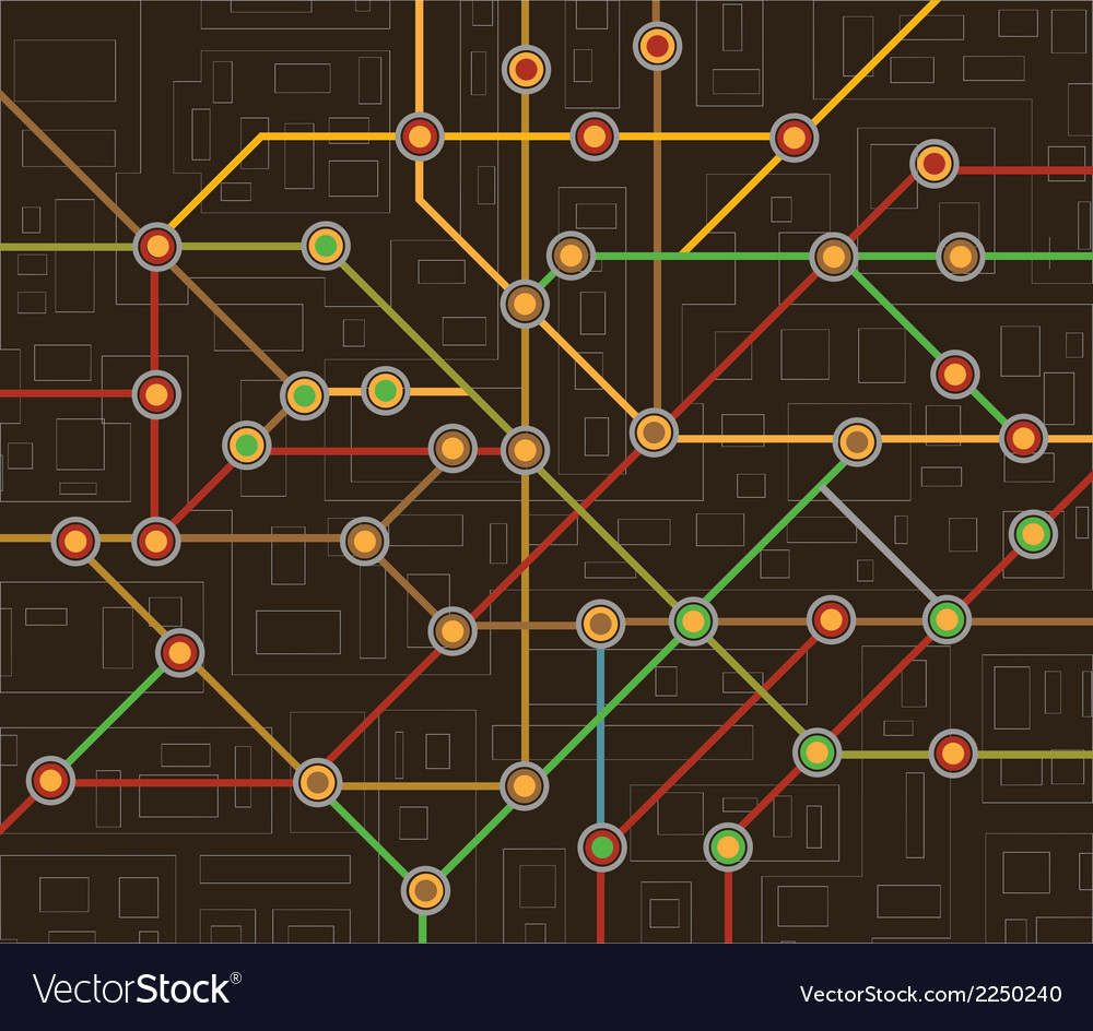 Subway map vector | Price: 1 Credit (USD $1)