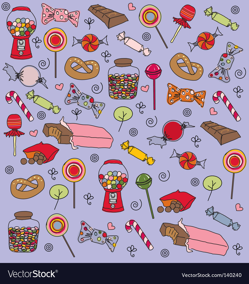 Sweets pattern vector | Price: 3 Credit (USD $3)