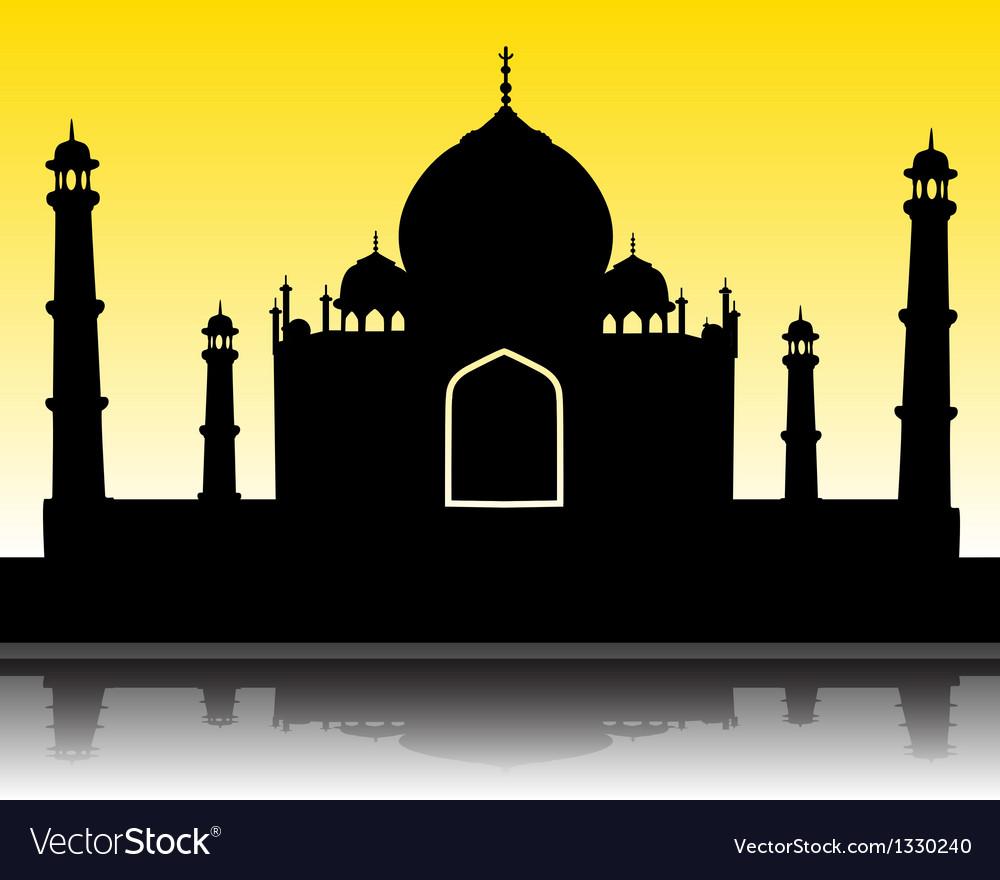 Taj mahal silhouette vector | Price: 1 Credit (USD $1)