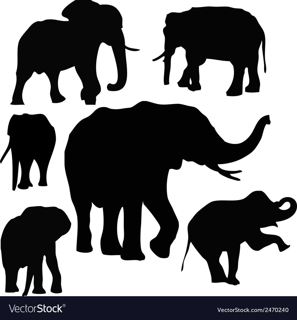 Thai elephants vector | Price: 1 Credit (USD $1)