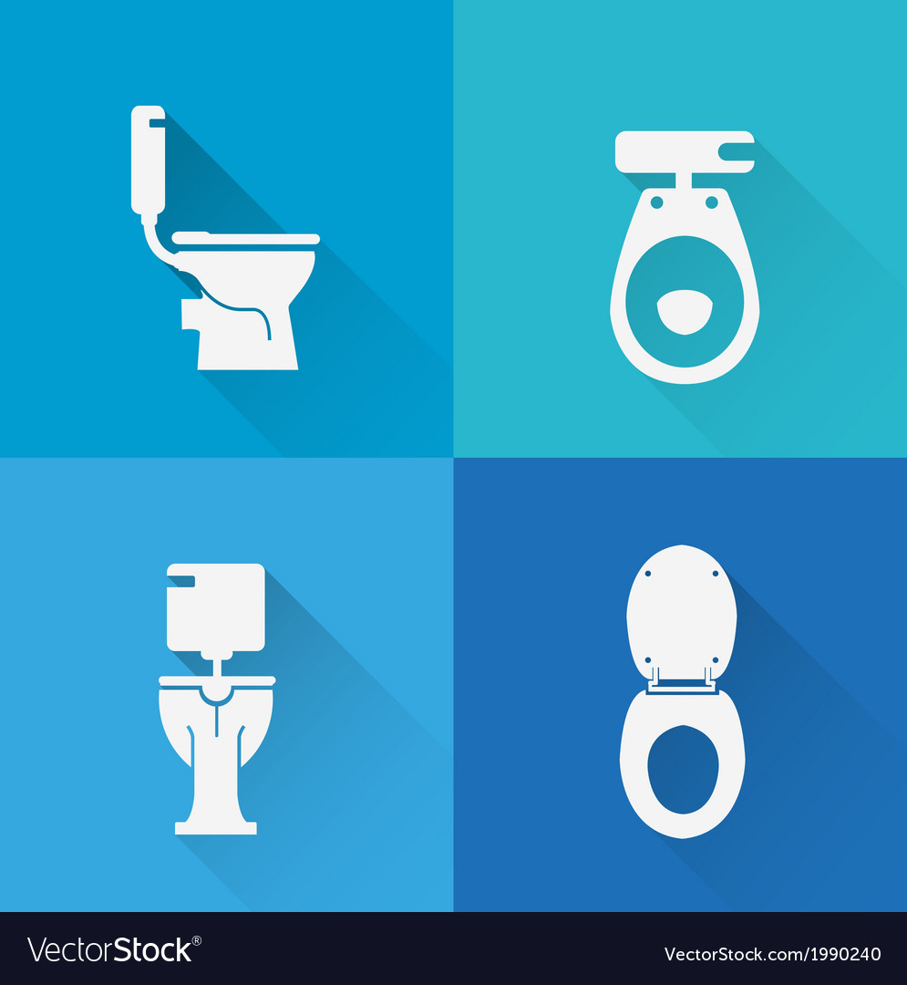 Wc toilet icons vector | Price: 1 Credit (USD $1)