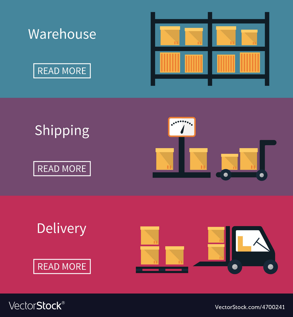 Cargo and delivery shipping banner vector | Price: 1 Credit (USD $1)
