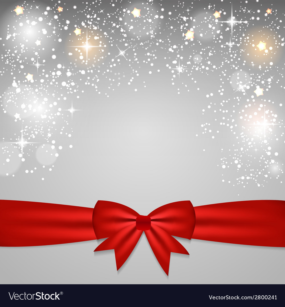 Christmas glossy star background with ribbon vector | Price: 1 Credit (USD $1)