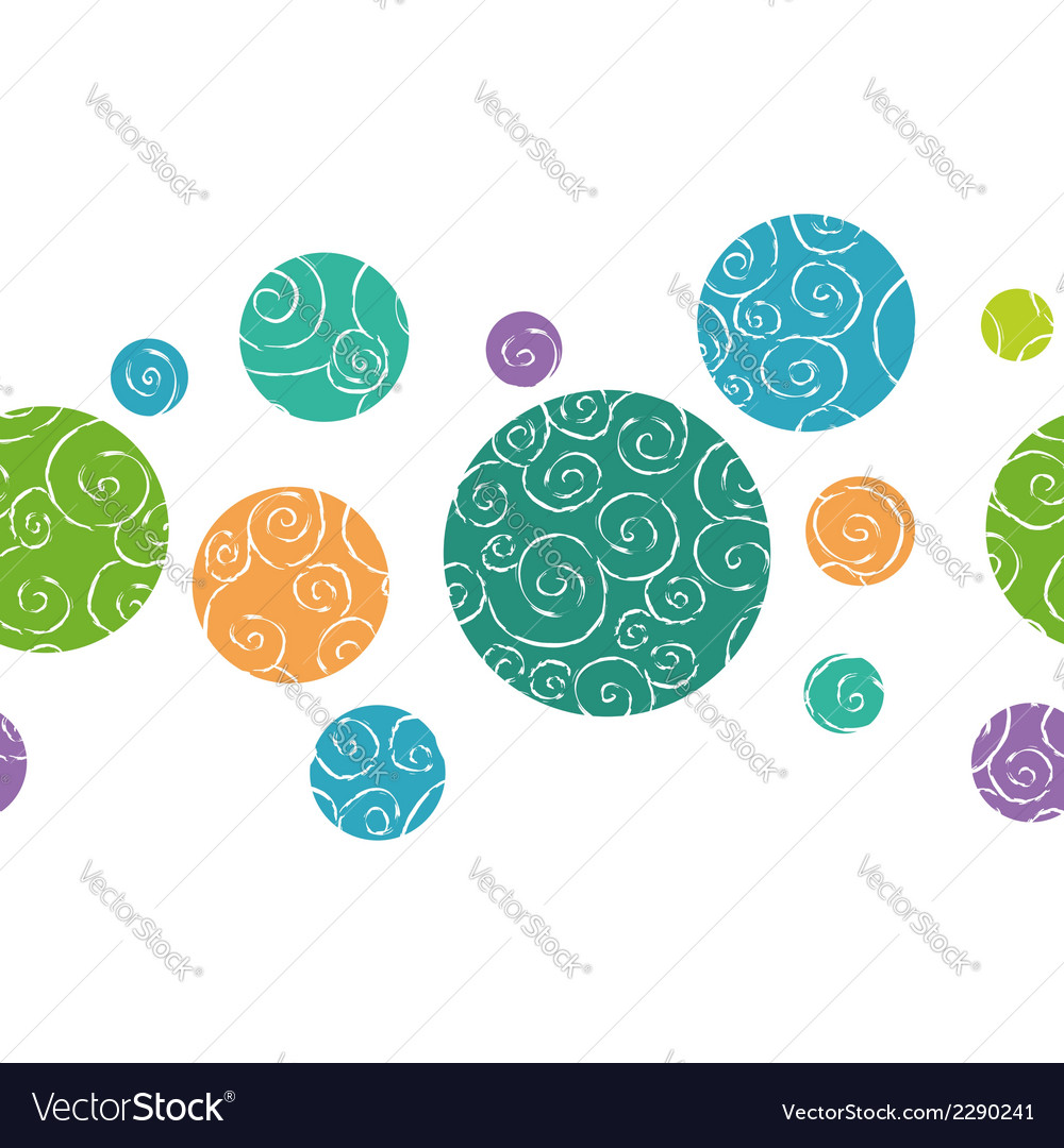 Doodle balls border vector | Price: 1 Credit (USD $1)