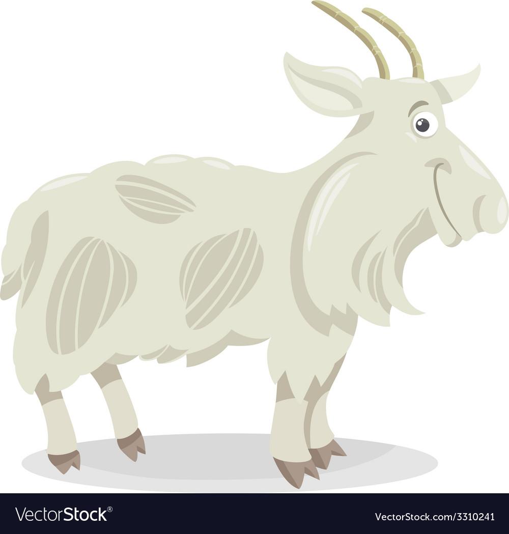 Goat farm animal cartoon vector | Price: 1 Credit (USD $1)