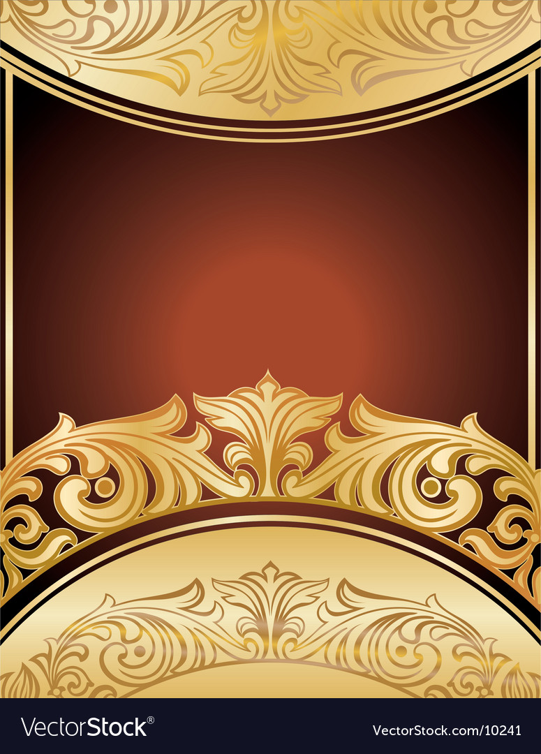 Gold floral background vector | Price: 1 Credit (USD $1)