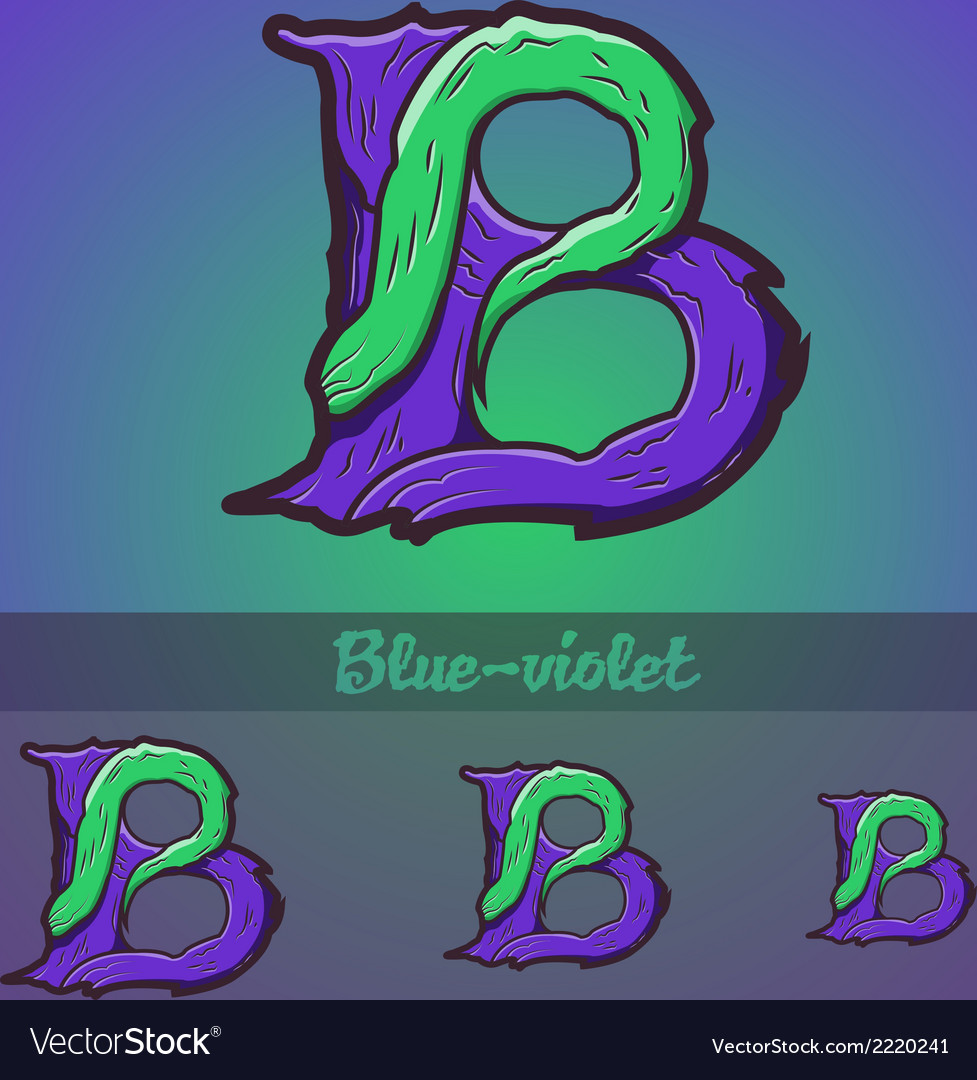 Halloween decorative alphabet - b letter vector | Price: 1 Credit (USD $1)