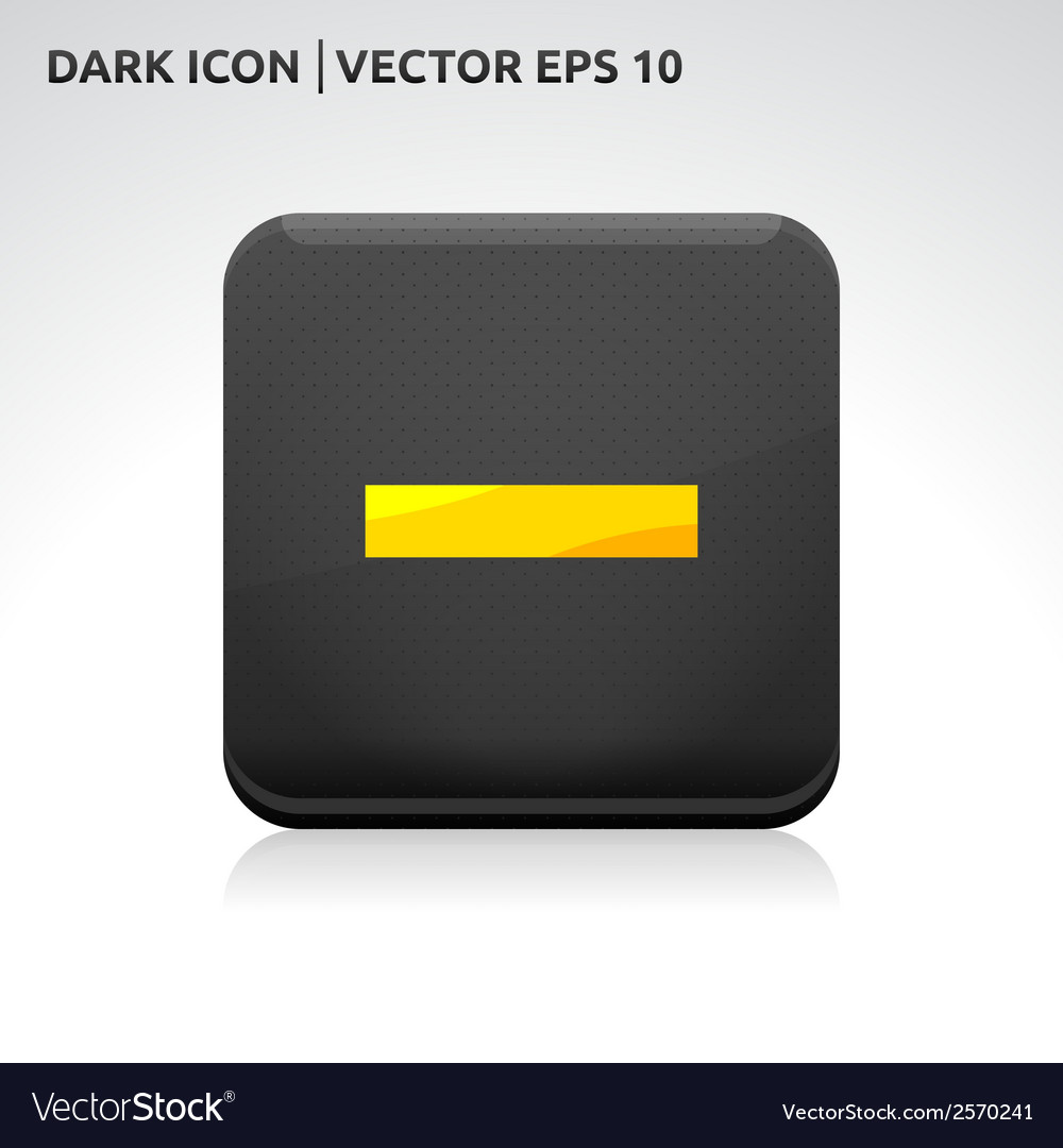 Minus delete close icon gold vector | Price: 1 Credit (USD $1)