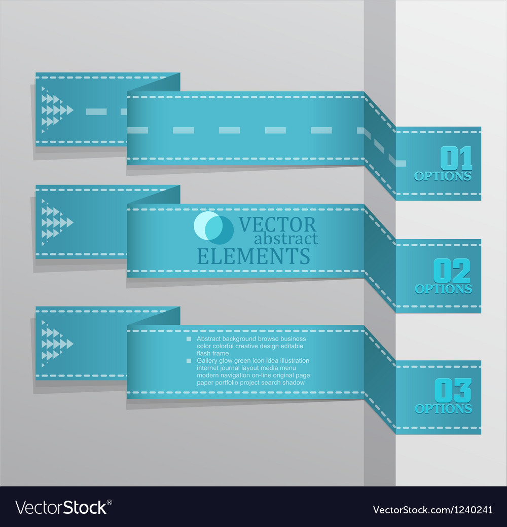 Modern blue banner item vector | Price: 1 Credit (USD $1)