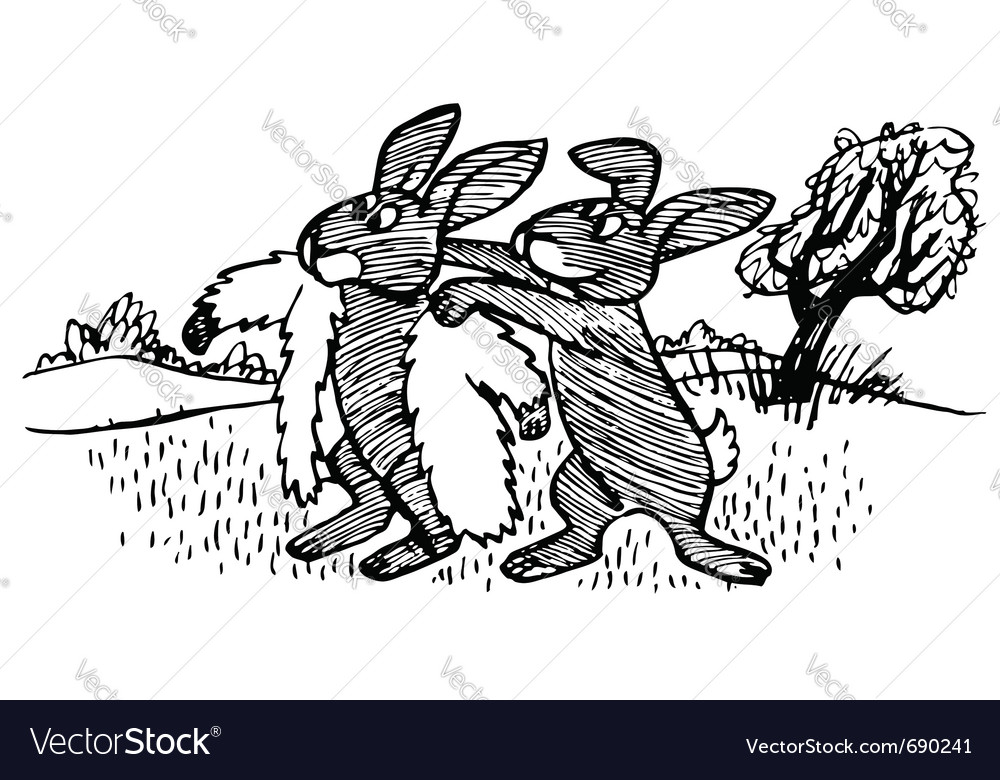 Rabbit moulting vector | Price: 1 Credit (USD $1)