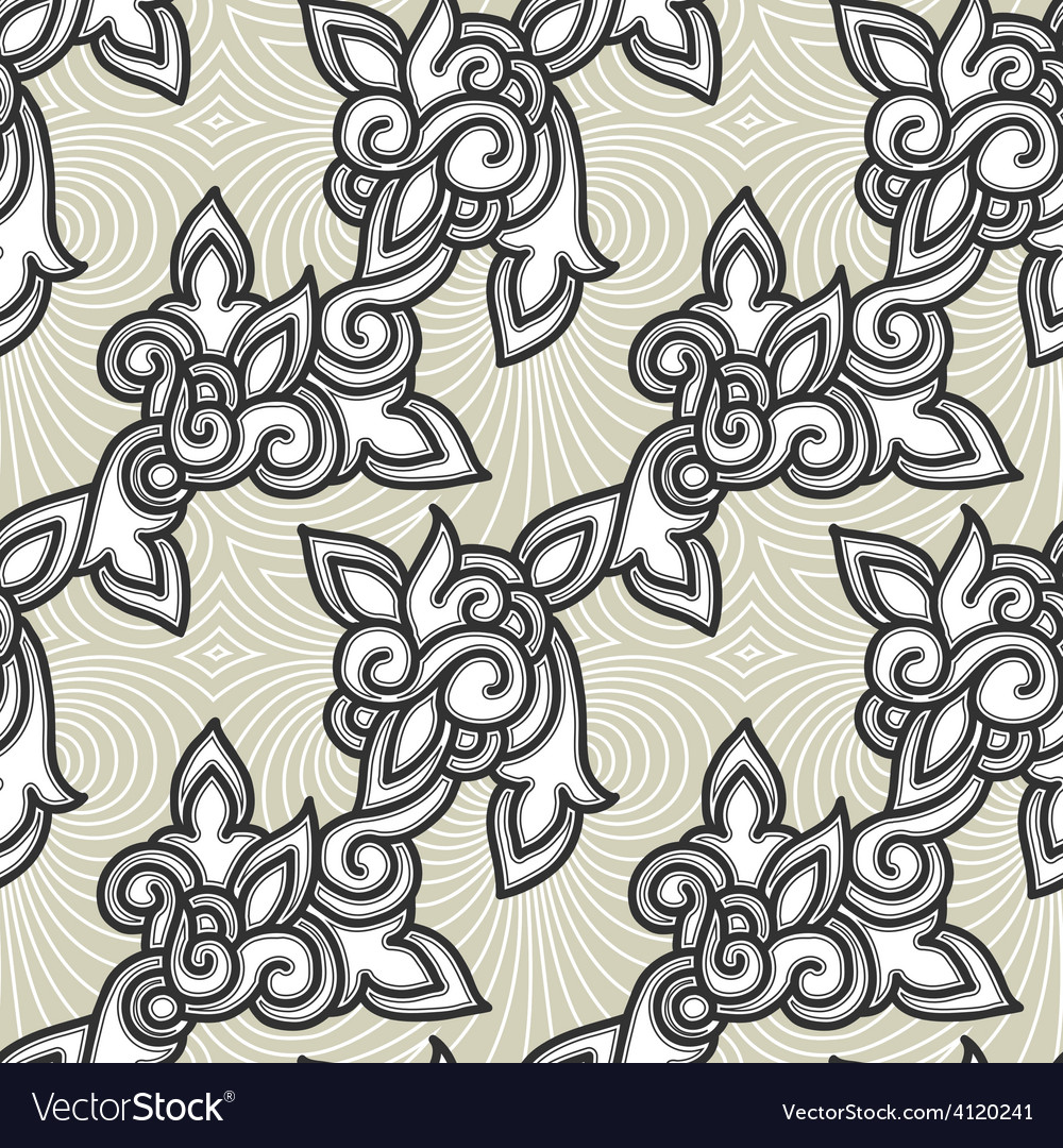 Seamless floral background pattern vector | Price: 1 Credit (USD $1)