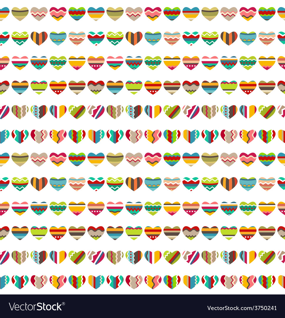 Seamless pattern made of small bright hearts vector   Price: 1 Credit (USD $1)