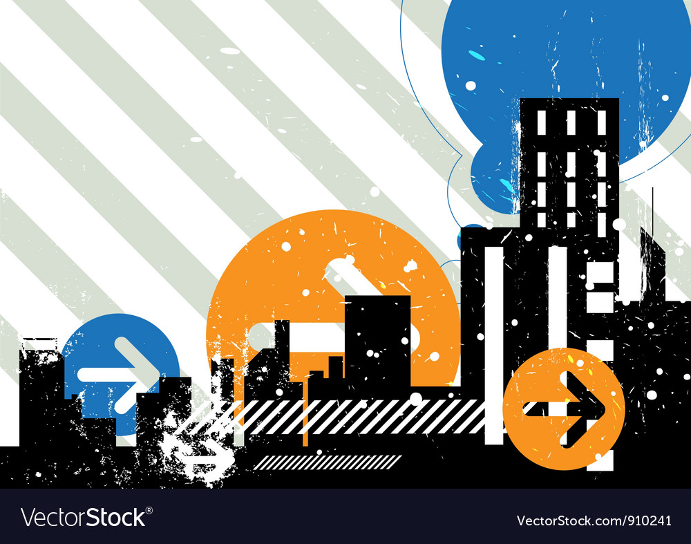 Urban scene background vector | Price: 1 Credit (USD $1)