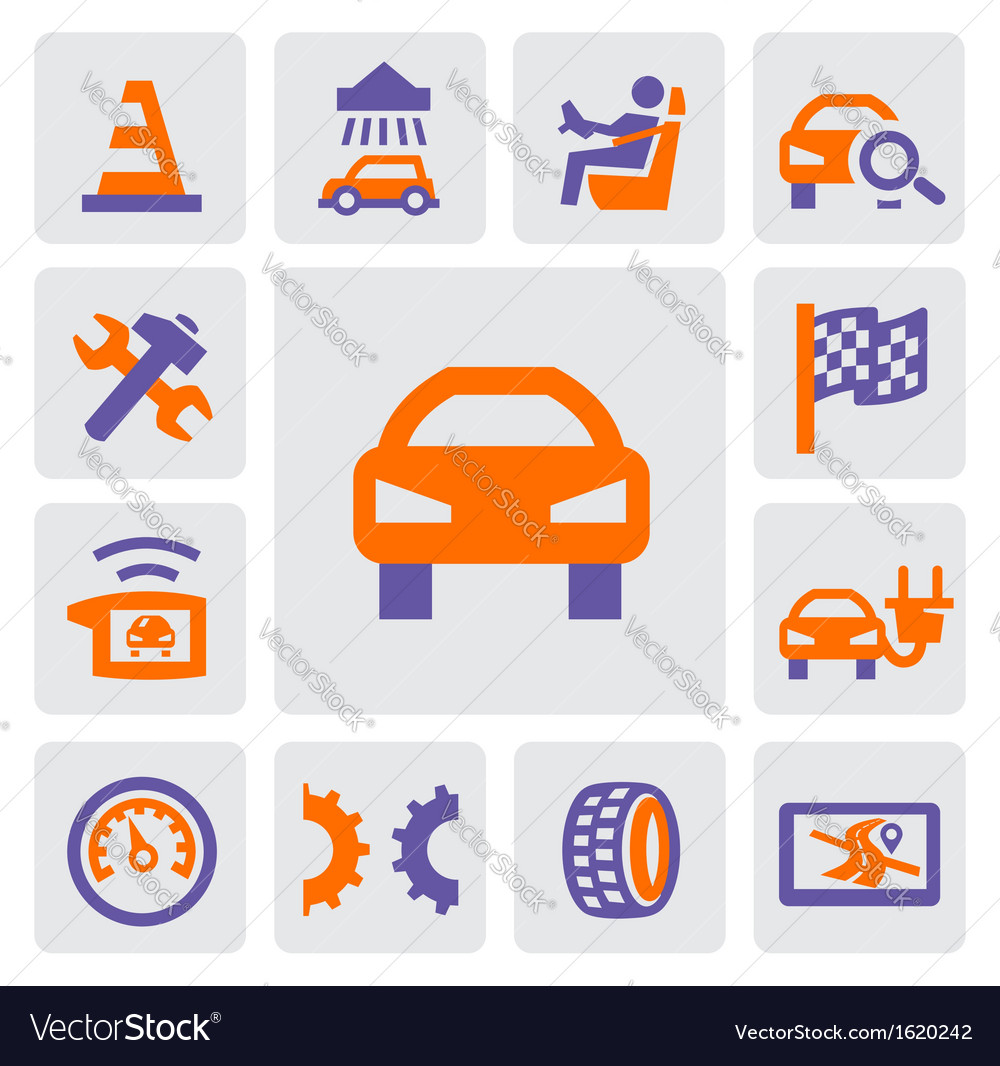 Auto and repair icons vector | Price: 1 Credit (USD $1)