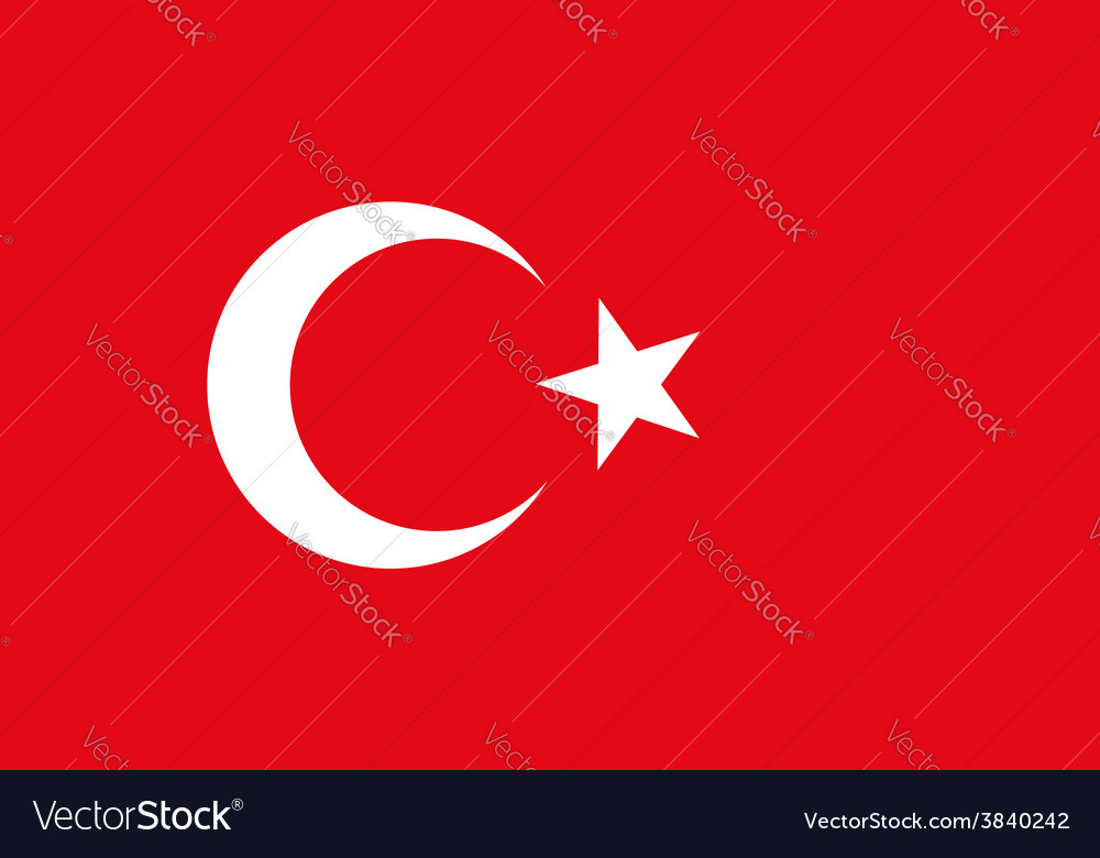 Background of turkey flag original proportions and vector | Price: 1 Credit (USD $1)