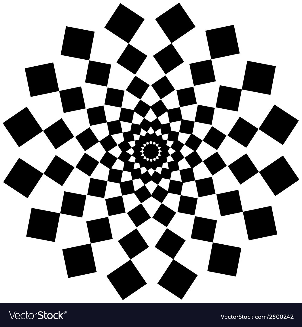 Black and white abstract psychedelic art vector   Price: 1 Credit (USD $1)