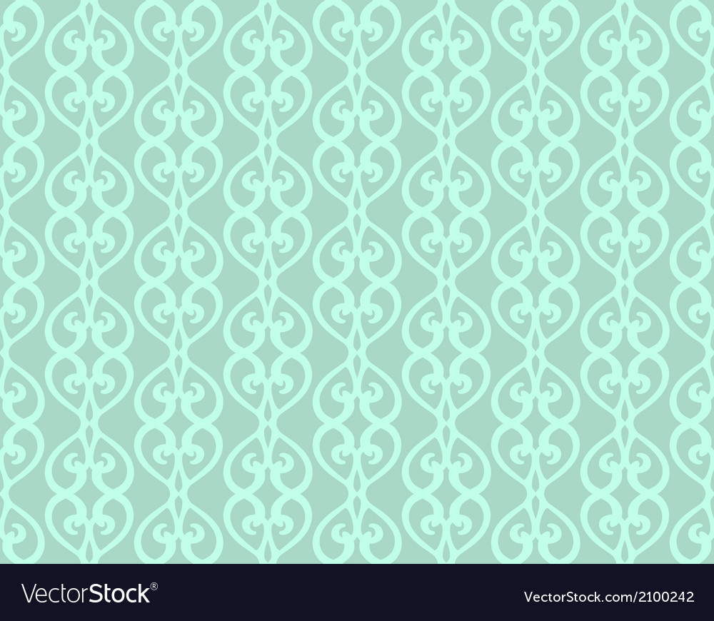 Blue vintage forged lacing seamless pattern vector | Price: 1 Credit (USD $1)