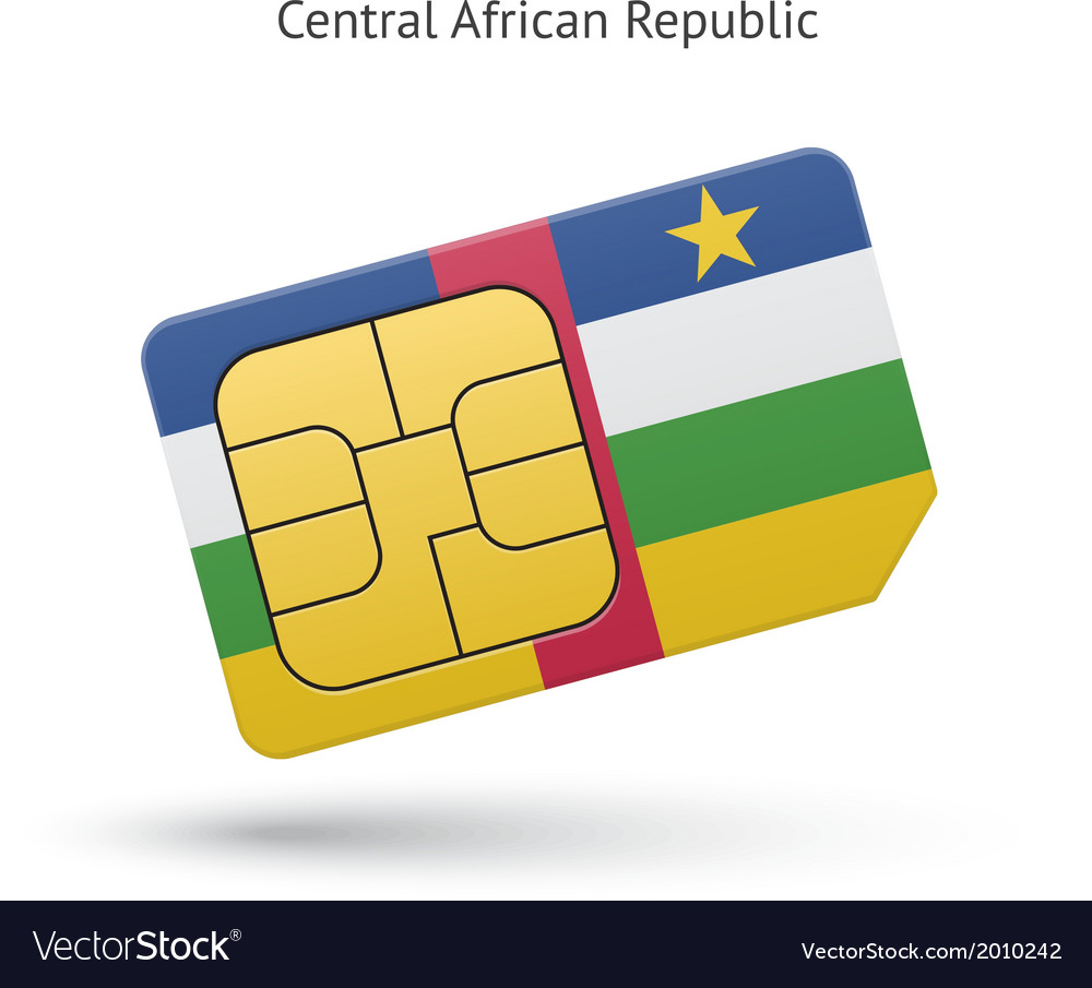 Central african republic mobile phone sim card vector | Price: 1 Credit (USD $1)