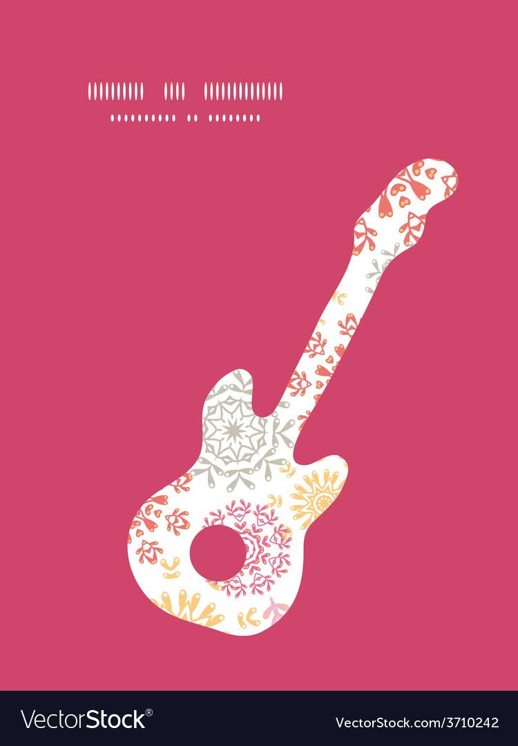 Folk floral circles abstract guitar music vector   Price: 1 Credit (USD $1)
