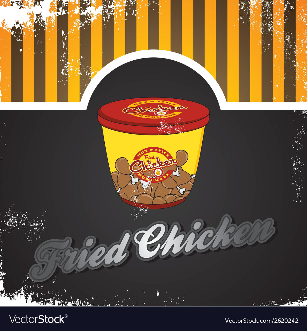 Fried chicken vector | Price: 1 Credit (USD $1)