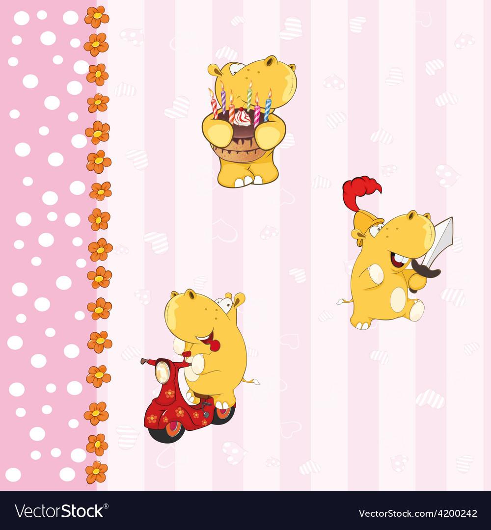 Hippopotamus background vector | Price: 1 Credit (USD $1)
