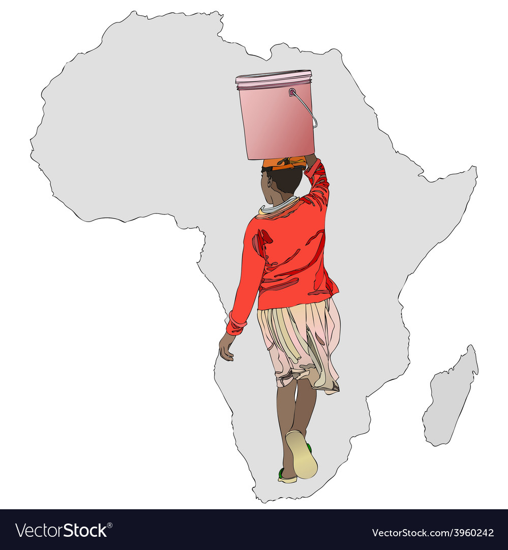 The importance of water in africa vector | Price: 1 Credit (USD $1)