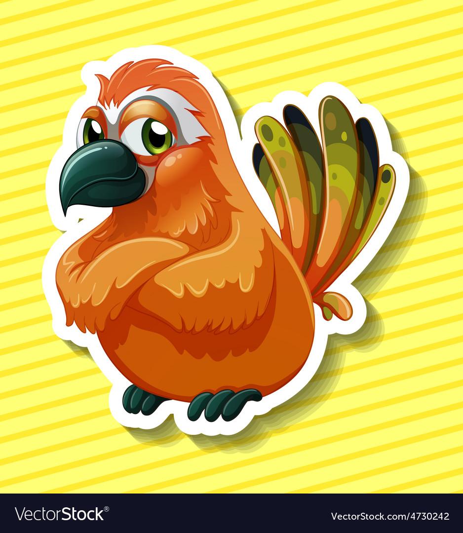 Orange bird vector   Price: 1 Credit (USD $1)
